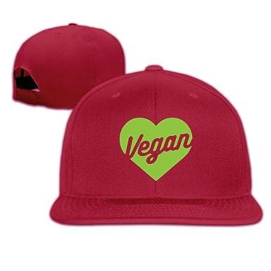 d32199be702d9 Mens and Womens Vegan Heart Flat Baseball Cap