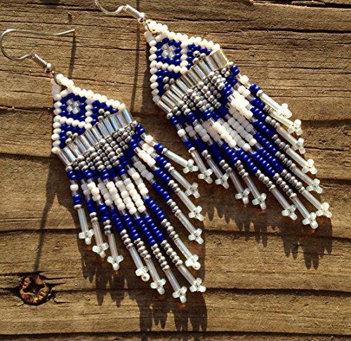 white-blue-cowboys-inspired-handmade-beaded-earrings-style-2