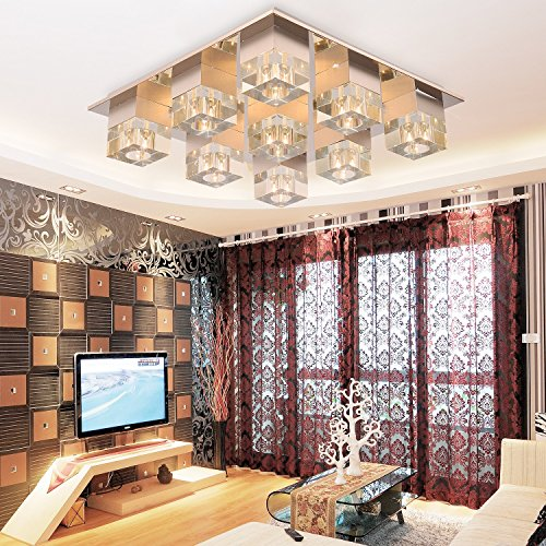 OOFAY LIGHT® Simple and elegant 4*G4-head crystal ceiling light for living room, Modern fashionable crystal light, Bedroom ceiling light