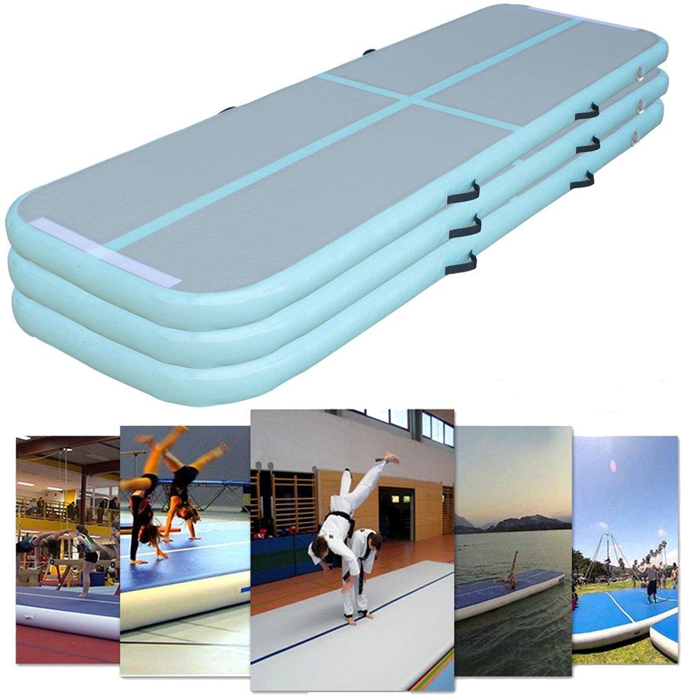 体操AirフロアマットインフレータブルエアトラックAirタンブルマット – ホームの使用、体操トレーニング、ビーチ、ヨガ B078VB8LDQ Set 3:1 Inflatable Mat One Size
