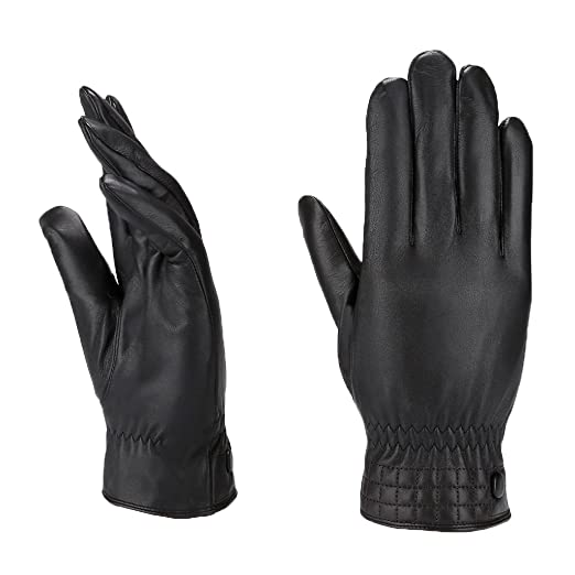 65f3f06d0fe63 Image Unavailable. Image not available for. Color: MoDA Men's Mr. Minneapolis  Men's Slim Fit Checkered Stitch Leather Gloves