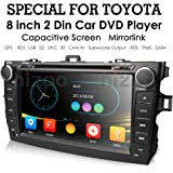 hizpo Toyota Corolla 2007 2008 2009 2010 2011 Car DVD Player 8 Inch Touch Screen GPS