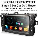 hizpo Toyota Corolla 2007 2008 2009 2010 2011 Car DVD Player 8 Inch Touch Screen GPS