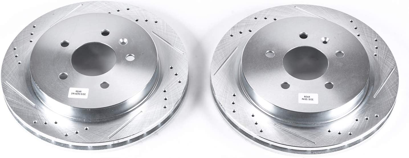 Power Stop AR82104XPR Rear Evolution Drilled /& Slotted Rotor Pair