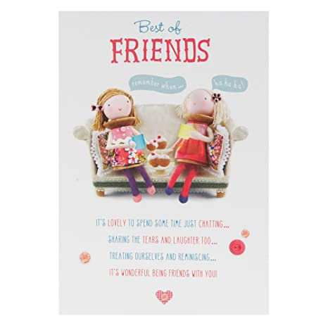Hallmark Birthday Card for Friend With Lots of Love Medium – Birthday Cards for Best Friend