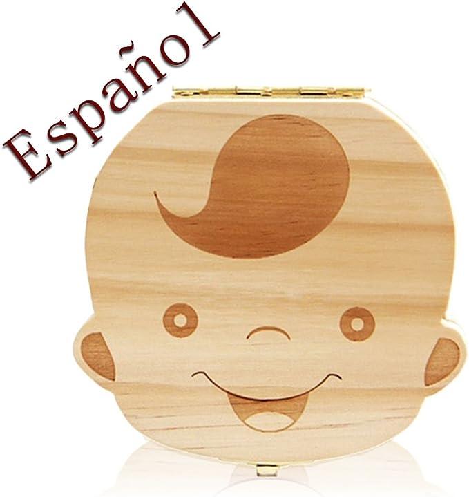 Leisial Caja de Almacenamiento de Dientes de Leche Souvenir Caja ...