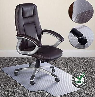 "48""X36"" Clear PVC Home Office Chair Floor Mat Studded Back Pile Lip Carpet Rectangular Standard Carpets Protector New"