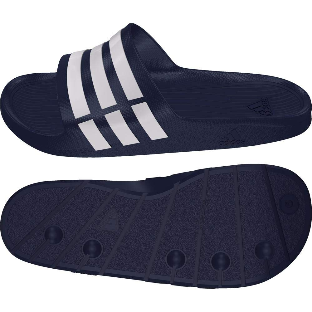 5f3cd0c4a26fa Adidas Duramo Slide Shower Sandal newnav wht n 5  Buy Online at Low Prices  in India - Amazon.in