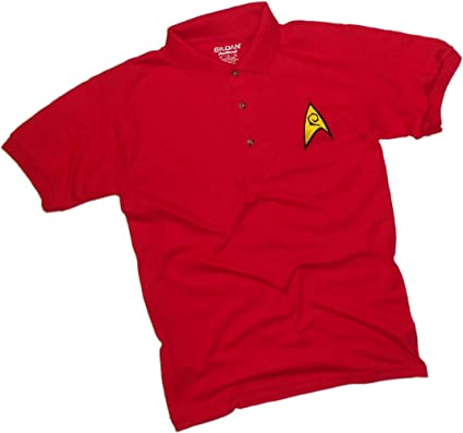 Engineering Red Uniforme Bordado -- Star Trek Adulto Polo Camisa ...