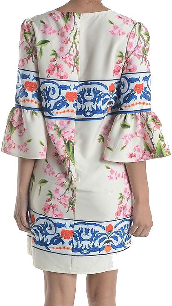 Aryeh Beautiful Ladies Floral Printed Spring Dress