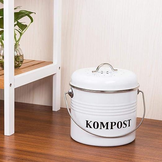 Baiansy - Cubo de Basura con Tapa para Compost, 5 L, Color Gris ...
