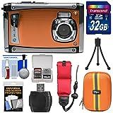 Bell & Howell Splash3 WP20 HD Shock & Waterproof Digital Camera (Orange) with 32GB Card + Case + Float Strap + Tripod Kit
