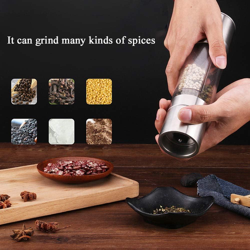 Adjustable Thickness Stainless Steel Pepper Grinder Ceramic Grinding Blade