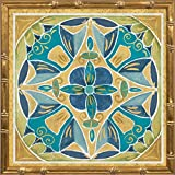 14x14 Free Bird Mexican Tiles III by Brissonnet, Daphne: Gold Bamboo 21872
