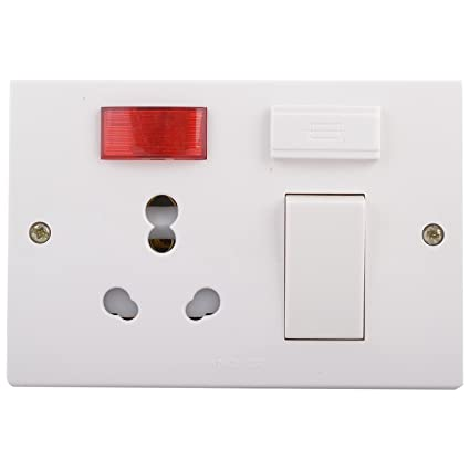 Anchor 14619 Penta 5 In 1 Combined Box 2 Hole Switch, 20 Amp, White