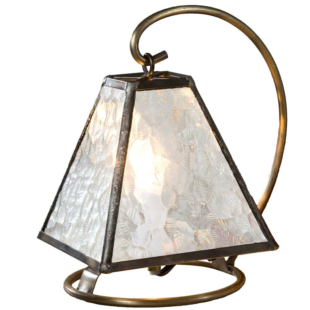 J Devlin Lam 651 Small Architectural Clear Glass Lamp Decorative Accent Light Nursery Bedroom