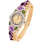 Jewels Galaxy Valentine Gifts Copper Analogue Brown Dial Girls and Women's Watch Bracelet for Women/Girls