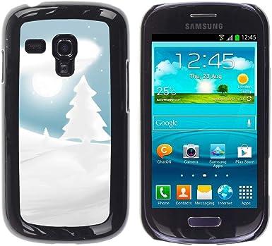 Smartphone PC Carcasa rígida para Samsung Galaxy S3 MINI 8190/funda TECELL/Invierno Navidad Forrest tienda: Amazon.es: Electrónica