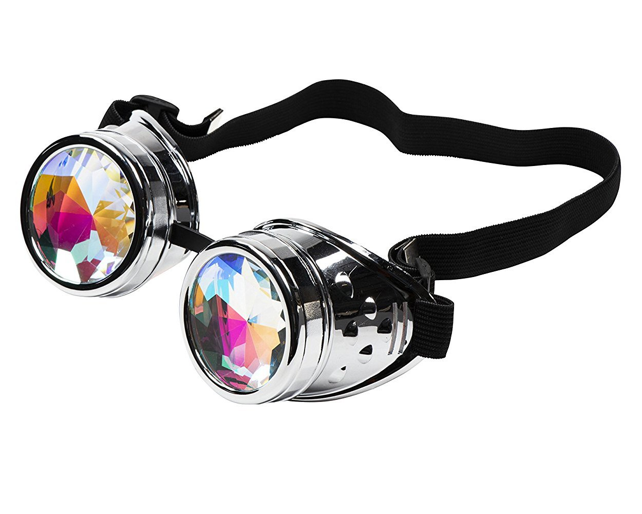 Kaleidoscope Crystal Lenses Steampunk Goggle – Vintage Retro Style Glasses for Halloween Costume Accessories
