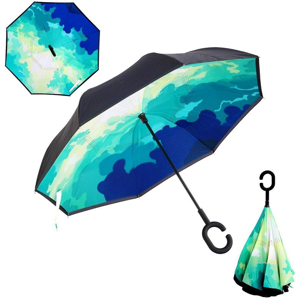 Beauty and the Beast Foldable Umbrella Custom Wind Resistant Umbrella