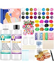 Resin kit for Beginners with Resin Glitter and Accessories, Gikasa 164Pcs Epoxy Resin Starter Kit with Epoxy Resin Dried Flowers Resin Supplies Tools for Resin Jewelry Making Decorations