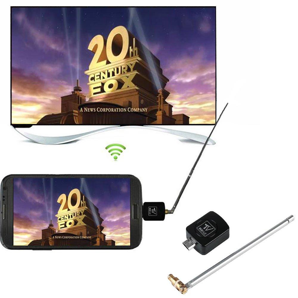 Hanbaili DVB-TデジタルモバイルTVレシーバー、マイクロUSB DVB-T TVチューナーレシーバー(AndroidスマートフォンタブレットPC HDTV用) B078HDKZDB