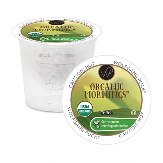 Wolfgang Puck Coffee Organic Mornings, 100 Count