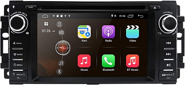 hizpo Android 9.0 OS 6.2 Pulgadas 1 DIN Car Navigation Reproductor ...