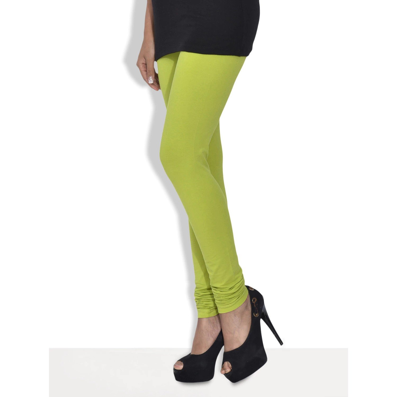 3041fb03d3bd02 Trasa Cotton Lycra Leggings for Women's and Girls Churidar Leggings, Size  :- Large, Yellow Green - (Brand Outlet): Amazon.in: Clothing & Accessories