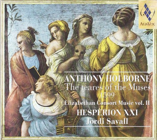 Cover of Holborne: The Teares of the Muses, 1599 [Elizabethan Consort Music. vol. II]