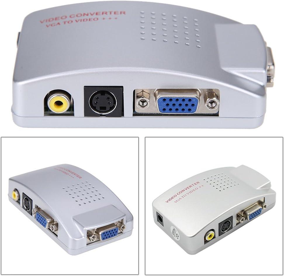 Amazingdeal365 PC portátil VGA a TV RCA conversor de vídeo compuesto S-Video caja: Amazon.es: Electrónica