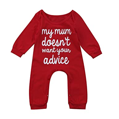41231a53218f My Mum Doesn t Want Your Advice  Funny Baby Sleepsuit Cheeky Baby ...
