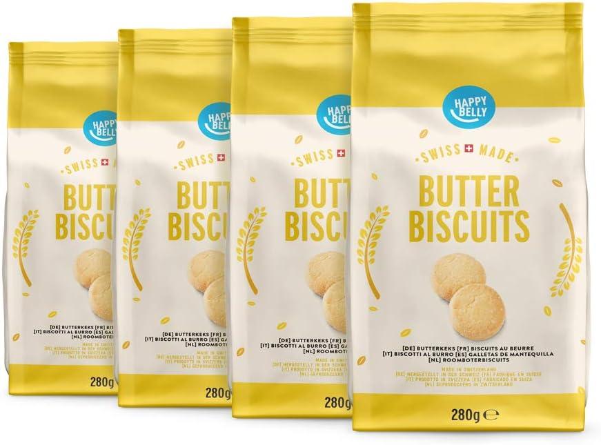 Marca Amazon - Happy Belly - Galletas de mantequilla, 4x280g ...