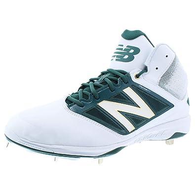 f9adb1fc5691a New Balance Midcut 4040v3 Mens Cushioning Metal Baseball Cleat 15 White- Green