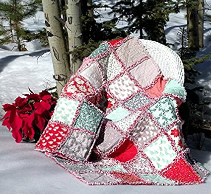 Amazon Winterberry Prefringed Rag Quilt Kit