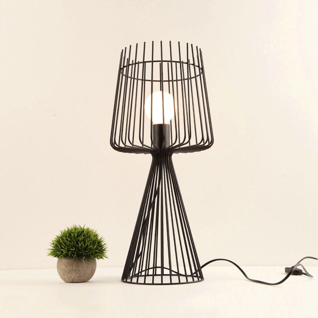 GJ Iron Art Table Lamp Restaurant Lamp Study Room Cafe Retro Mesh Table Lamp GJV