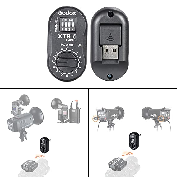 Amazon.com : Godox 2.4G Wireless XTR-16 Receiver for X1C X1N XT-16 Transmitter Trigger Wistro AD360/DE/QT/DP/QS/GS/GT Flash Series : Camera & Photo