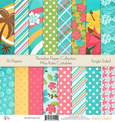 (Pattern Paper Pack - Paradise - Scrapbook Premium Specialty Paper Single-Sided 12