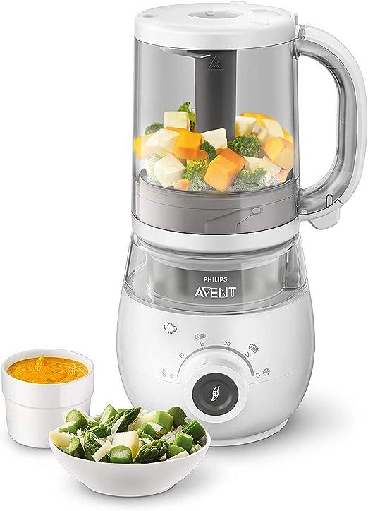 Philips Avent SCF883/01 - Robot de cocina 4 en 1 para papilla, cocina al vapor, Frulla, scongela y calienta de un recipiente: Amazon.es: Bebé