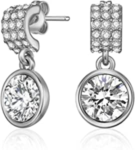 Mestige Molly Drop Earrings with Crystals from Swarovski®, Gifts Women Girls, Bridal Jewellery