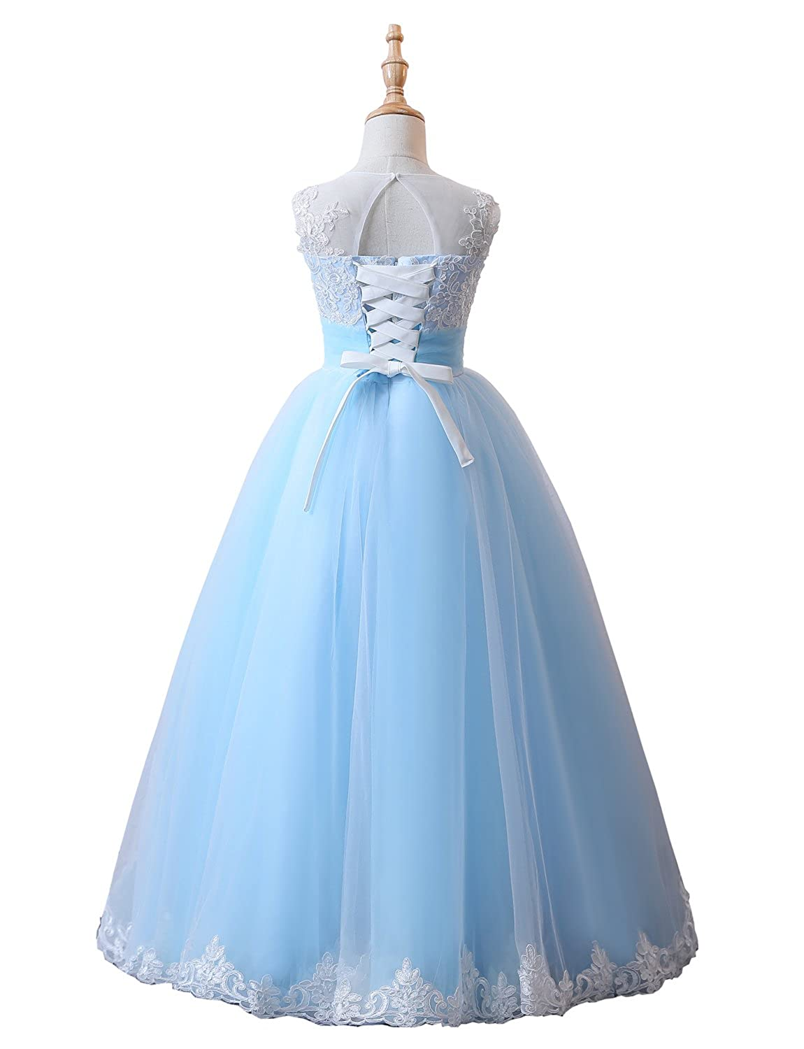 Amazon.com: JYDress Pageant Wedding Flower Girl Dress Princess First Communion Dresses: Clothing