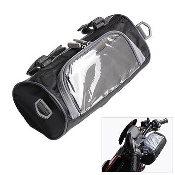 d693f3ec62c Bolsa de almacenamiento para manillar delantero de motocicleta, con  pantalla táctil transparente, bolsa pequeña y correa de hombro ajustable  extraíble: ...