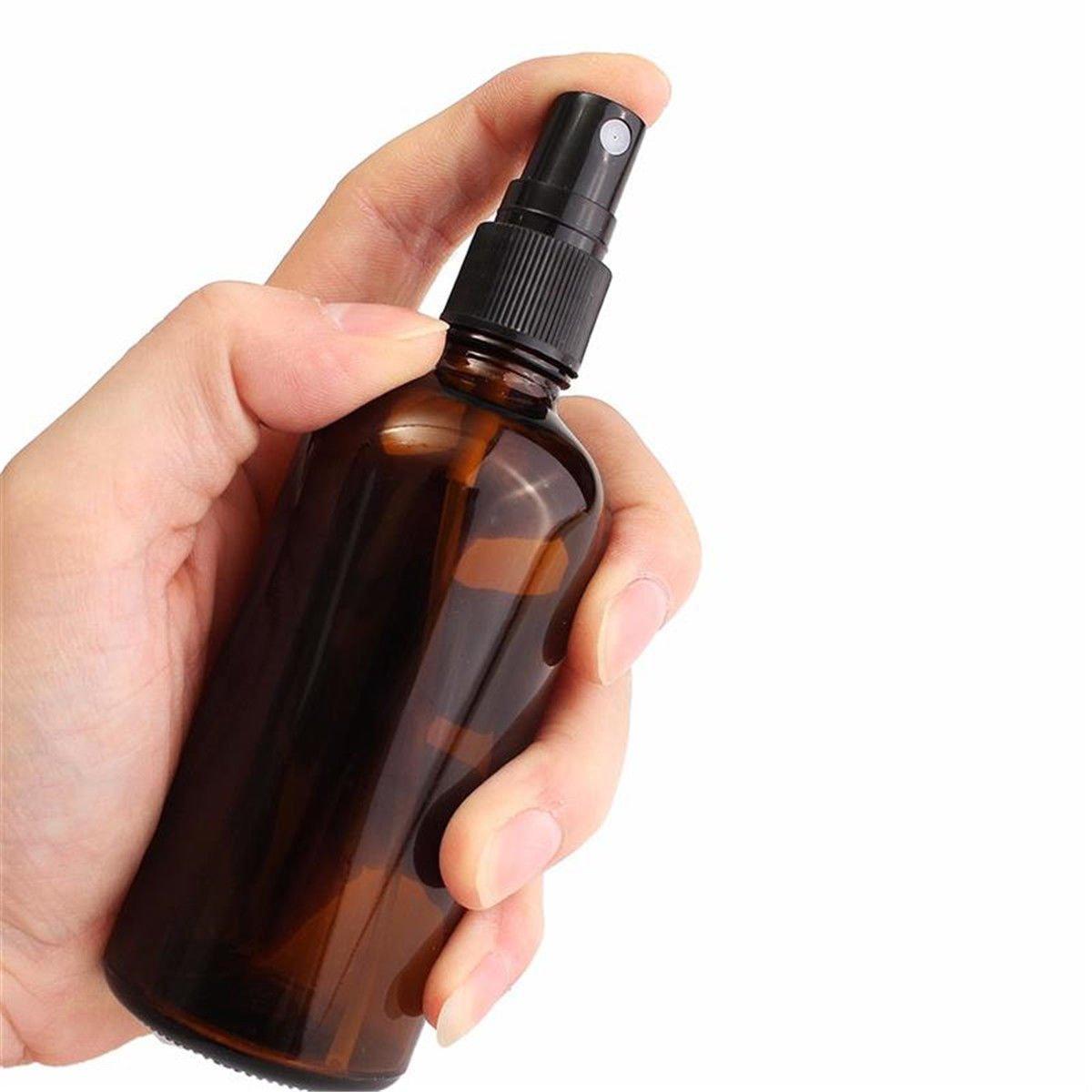 6x Glas nachfüllbar mit Sprühflaschen mit schwarzem atomiser, für ätherisches Öl, 30/50/100ml YCooker