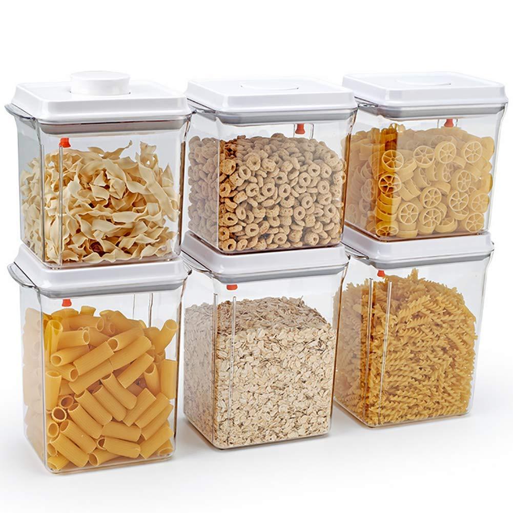 CASILE Platz versiegelter Kunststoffbeh/älter BPA frei K/üche Pantry Container mit Silikon versiegelt Locking Deckel,f/ür Getreide N/üsse Milchpulver Lagerung,1700ML