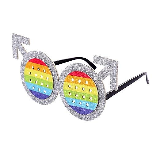 Amosfun LGTB - Gafas de Sol para Disfraz de Fiesta (Macho), diseño ...
