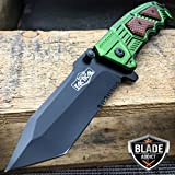 New 8'' Military TANTO Assisted Spring Tactical Pocket Hunting Folding OPEN EcoGift Nice Knife with Sharp Blade GN- Great For Fun And Practical Use