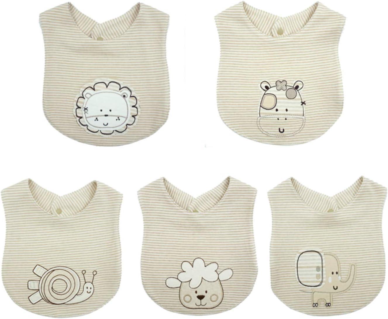 Baberos para bebés, seguros 100% algodón orgánico de color natural, sin tinte ni lejía, absorbentes, tonos neutros, estilos unisex: Amazon.es: Bebé