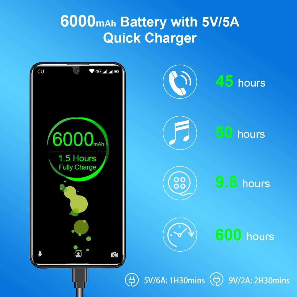 """OUKITEL K9 DE 7.12"""" FHD+ Pantall Smartphone Libres Batería 6000mAh ..."""