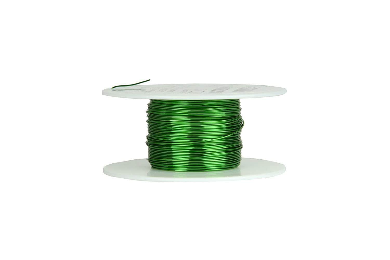 TEMCo 24 AWG Copper Magnet Wire 2 oz 99 ft 155/°C Magnetic Coil Green