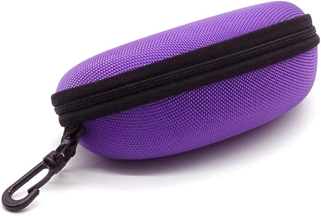 CHRONSTYLE Schutztasche Hardcase BrillenetuiBox f/ür Sonnenbrille//Lesebrille Hard Case f/ür die Reise Niedliche Tasche in Schwarz f/ür Brille und Sonnenbrille mit Rei/ßverschluss